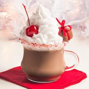 Peppermint Hot Chocolate cocktail recipe