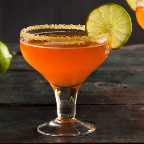 Candy Corn Margarita cocktail recipe