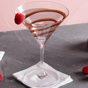 White Chocolate Raspberry Martini cocktail recipe