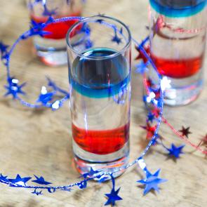 Red, White, and Blue Shot | The Cocktail Porject