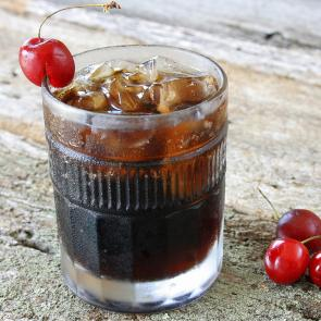 Black Cherry and Cola cocktail recipe