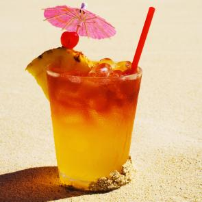 Banana Mai Tai cocktail recipe