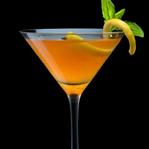 Citrus Basil Manhattan cocktail recipe