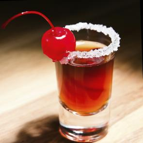 Red Cherry Bonbon Shot | The Cocktail Porject