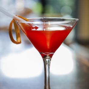 Red Greyhound Pinn-Tini | The Cocktail Porject