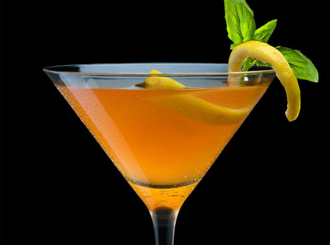 Citrus Basil Manhattan   The Cocktail Project