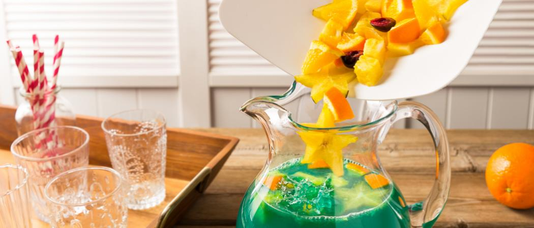 Blue Lagoon Sangria | The Cocktail Project
