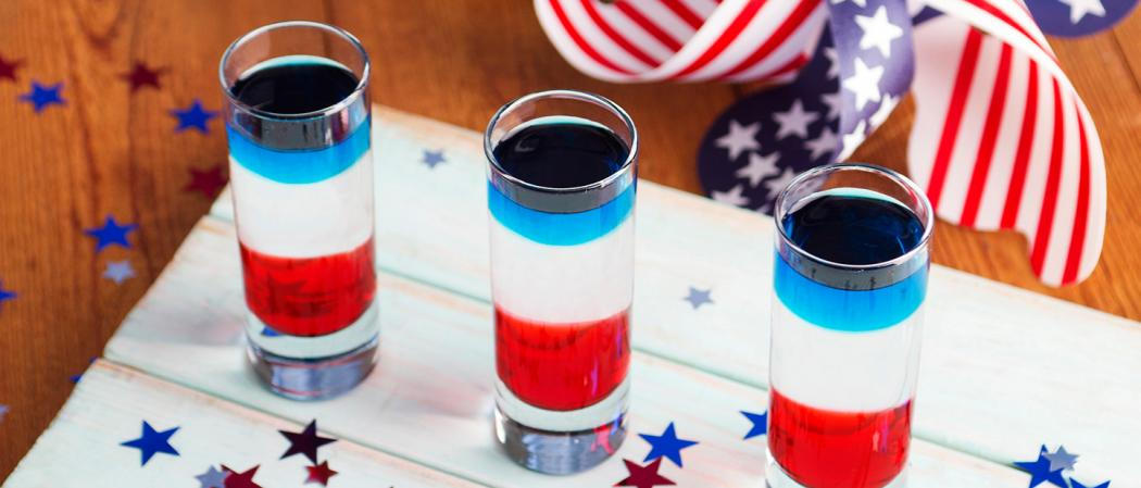 Red, White, and Blue Shot | The Cocktail Project