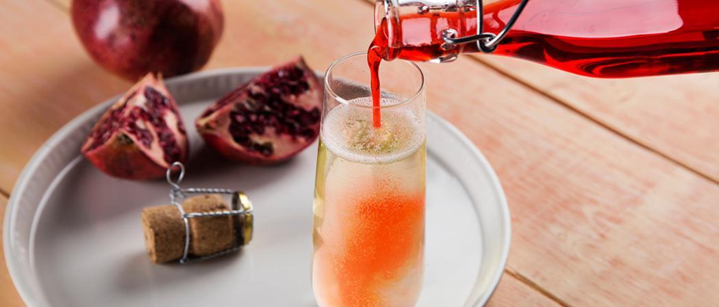 Pomegranate Bellini-Tini | The Cocktail Project