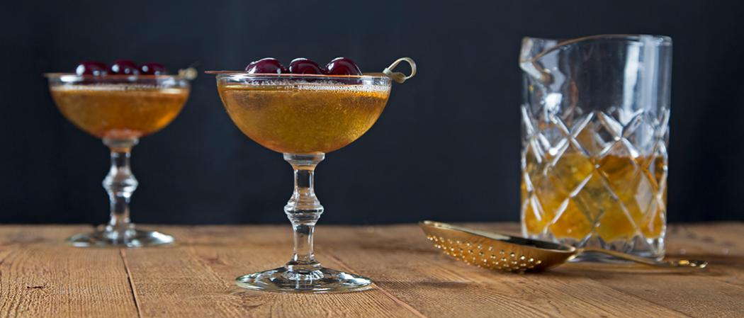 Bellini Manhattan | The Cocktail Project