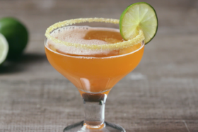 Play Video: How to Make a Candy Corn Margarita
